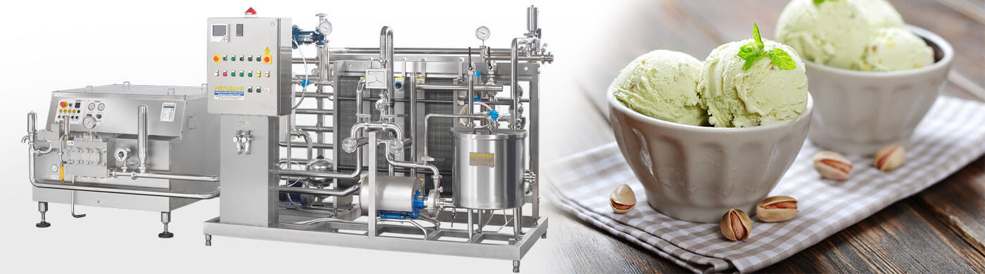 Ice cream processing plants
